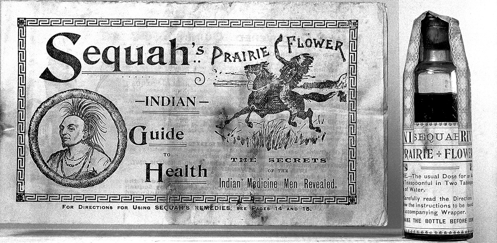 Advertisement for Sequahs Indian Prairie Flower